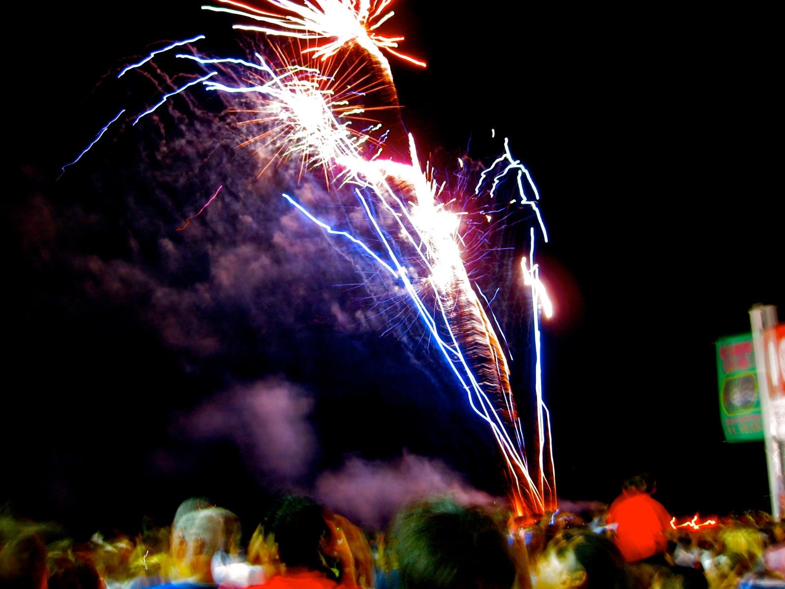 Fireworks from Casino Pier, Seaside Heights, NJ