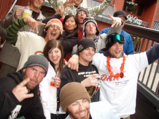"Mary Jane Lifties Celebrating ""Most Friendly Lift Crew in CO"""
