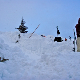 Ricky Torres Digging out our Backcountry Hit