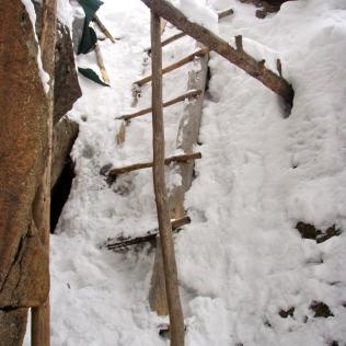 Roundhouse Hut Entrance