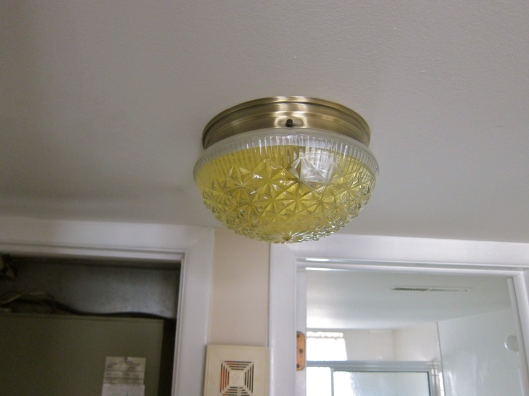2nd Level Light Fixture Filled with Water