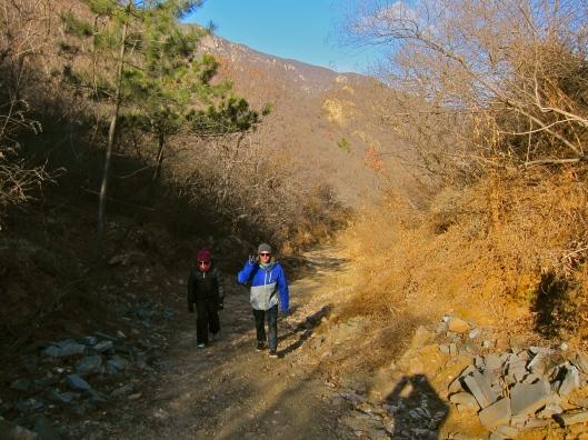 Nick and Elisha on the Hike