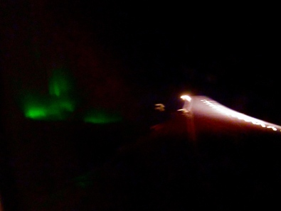 Northern Lights from the plane