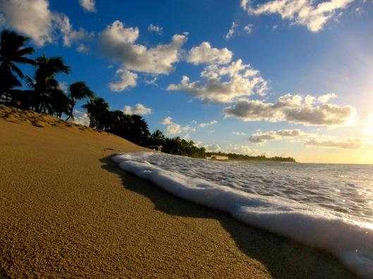 Sunset Foam on Sand