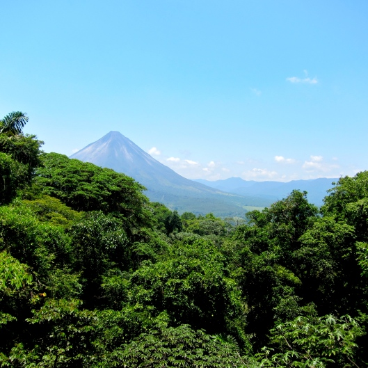 Vulcan Arenal from the Hanging Bridges Park