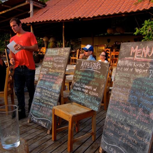 Dinner Menu - Brisas Del Mar - Santa Theresa