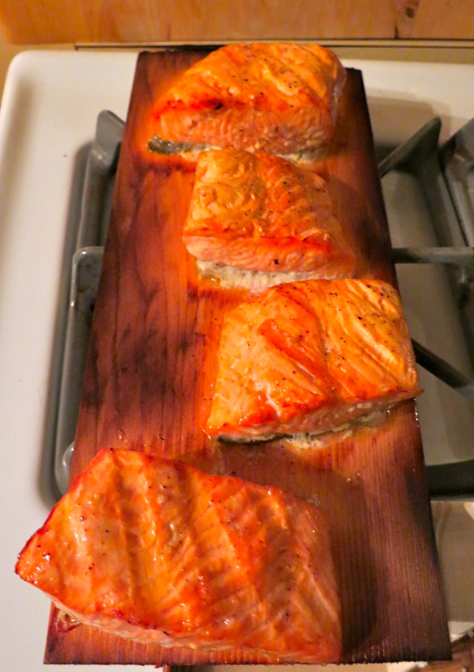Salmon on the Plank