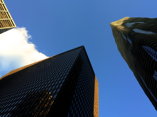 Buildings on Blue