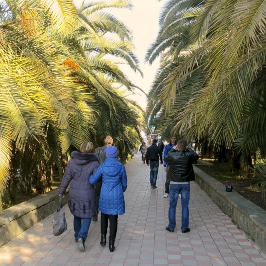 Walking through Sochi