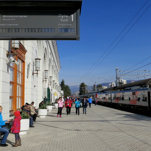 Sochi Train Station Tracks