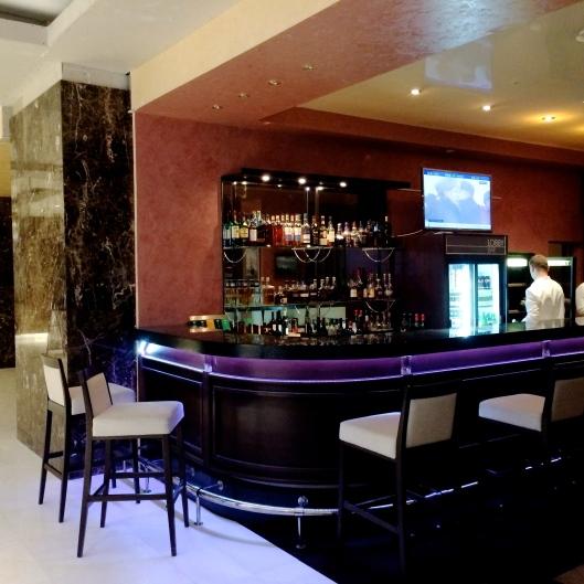 The reception desk became a bar