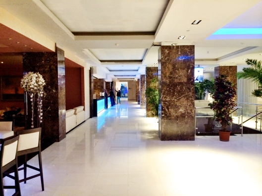 Hotel Lobby, Day 4. Looking WAY better