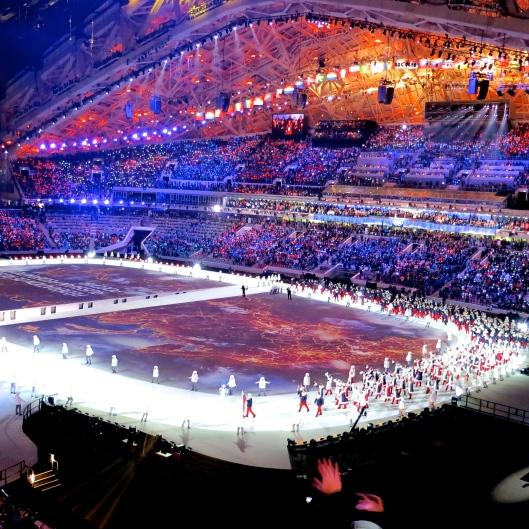 Team Russia's Grand Entrance