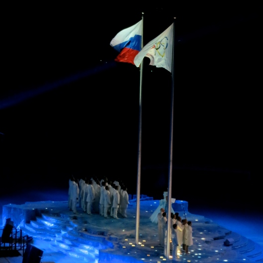 Opening Ceremony, Presentation of the Olympic Flag