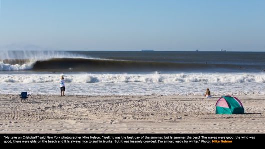 Luckily Mike Nelson brought his camera and not just a board