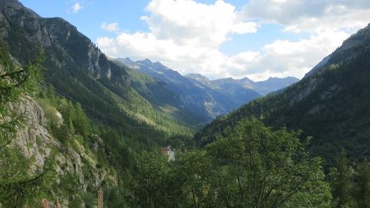View above Cascata del Toce