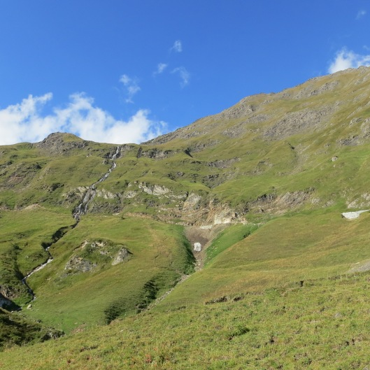 Looking up Toward Corno Gries