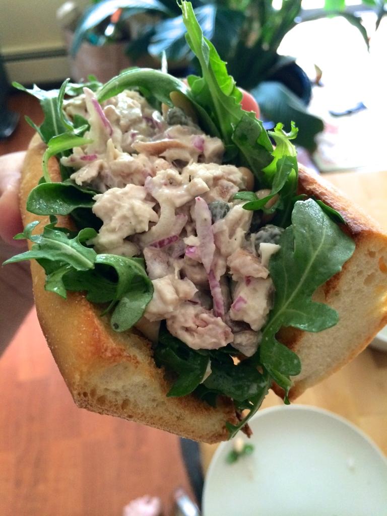 Leftover Ahi Tuna Salad